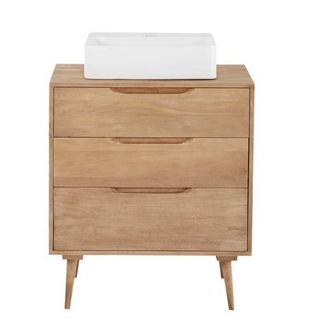 meuble de salle de bain 1 vasque 3 tiroirs en manguier