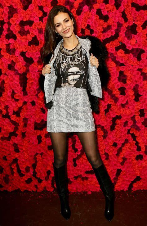 Victoria Justice Attends the Alice + Olivia Fashion Show