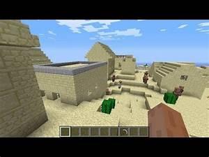 Minecraft NPC Village Seed 161 164 Cool Desert