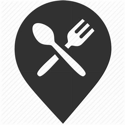 Icon Restaurant Map Icons Point Restaurants Navigation