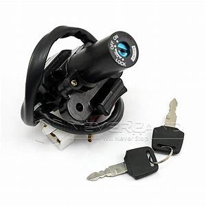 Ignition Switch Lock Key For Kawasaki Zzr400 Zzr600 Zx7r