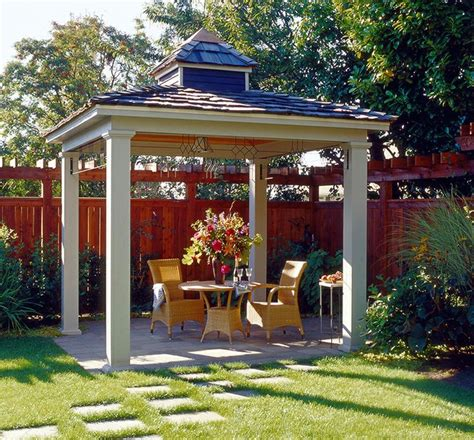simple hip roof pavilion  small cupola backyard pavilions pinterest gardens simple