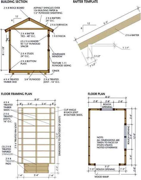 shed floor plans gable shed blueprints 8 12 plans for a durable wooden shed