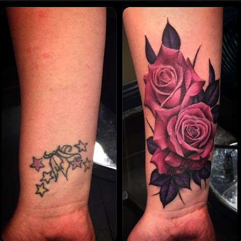 rose cover  tattoos  tattoo ideas gallery