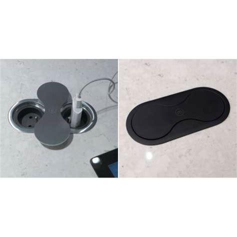 poubelle cuisine inox bloc prises clapet intégrée plan de travail accessoires de
