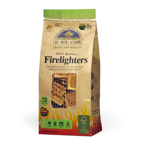 100% Biomass Firelighters   If You Care