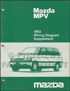 1993 Mazda Mpv Wiring Diagram Manual Original For Vans Without Airbag