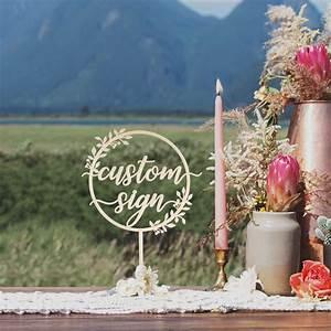 Rustic, Custom, Table, Wedding, Sign