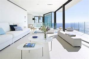 The modern house with the sea view