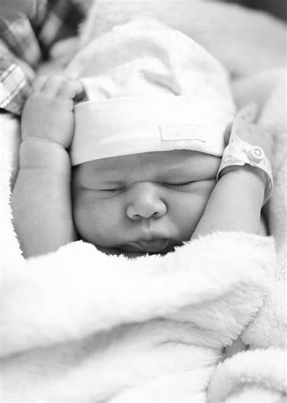Newborn Child Portrait Funny Human Hand Infant