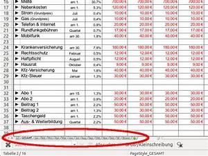 Excel Tabelle Berechnen Lassen : spartipp haushaltsbuch bedienungsanleitung ~ Themetempest.com Abrechnung