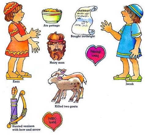 complete jacob and esau lessons with crafts worksheets 601 | 1e49e645f04c8a3a13fe794029d8da52