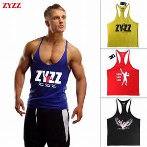 Tank Top Men ZYZZ Fitness Singlets Bodybuilding Stringer ...