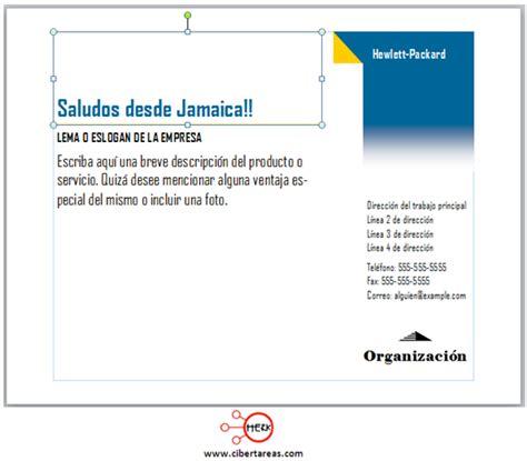 como hacer una postal publisher  cibertareas