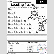 Free Reading Fluency And Comprehension (set 2) First