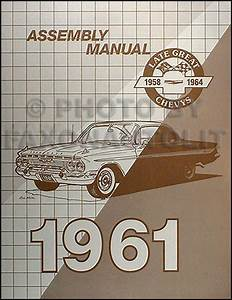 1961 Chevy Wiring Diagram Manual Reprint Impala  Ss