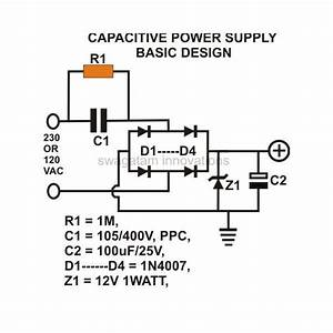 120v To 5v 500ma Transformerless Power Supply Circuit