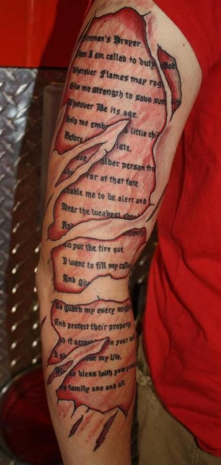 firefighter prayer tattoos
