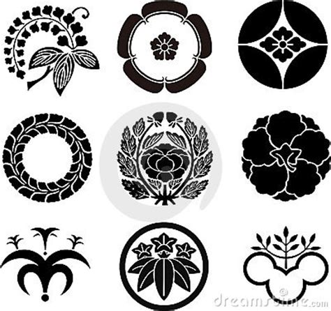 japanese family crests stock images image