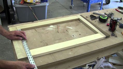 build a medicine cabinet how to build a recessed cabinet pt 1 youtube