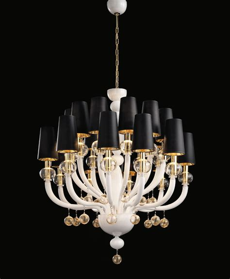 White Modern Chandelier by White Glass Modern Murano Chandelier With White Lshades