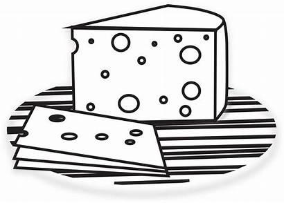 Cheese Clip Clipart Coloring Wheel Macaroni Keju