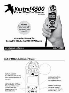 Kestrel 4500 User Guide