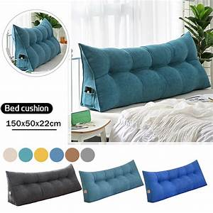Triangular, Wedge, Pillow, Bedside, Cushion, Pillow, Large, Upholstered, Headboard, Reading, Pillow