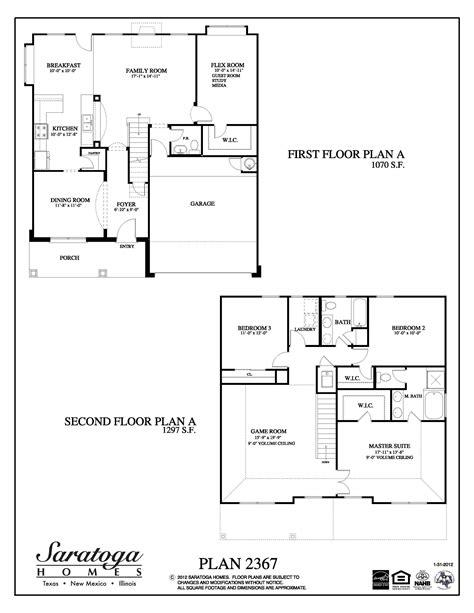floor plans houston tx plan 2367 saratoga homes houston