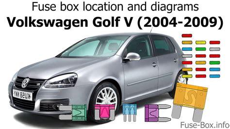 fuse box location  diagrams volkswagen golf  mk