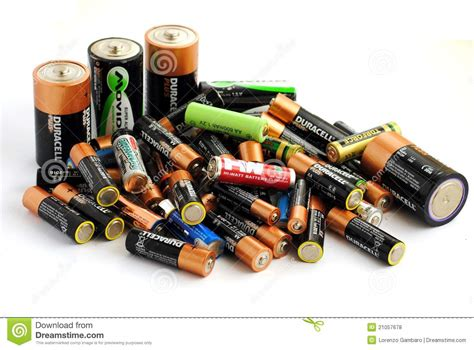 Different Type Of Batteries, Rechargeable And Disp