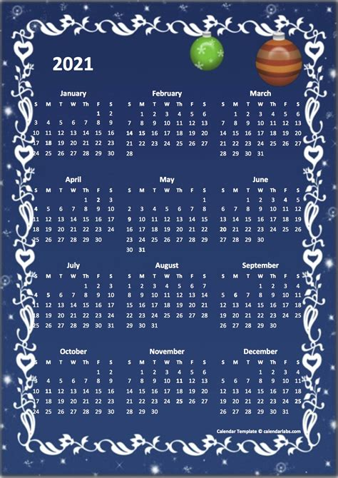 yearly calendar design template  printable