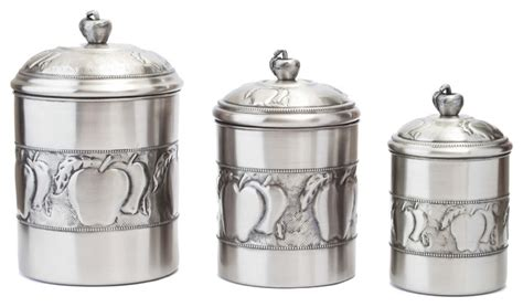 contemporary kitchen canister sets 3 apple canister set with fresh seal covers