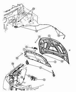 2008 Dodge Nitro Bushing  Hood Prop Rod Pivot