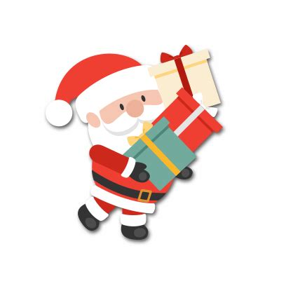 santa stickers by jaison joseph