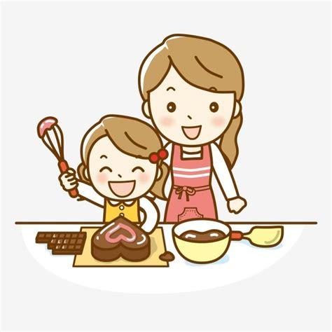 gembira happy hari ibu membuat kue untuk ibu hari ibu hari