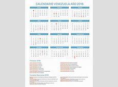 Calendario Venezuela Año 2018 Feriados
