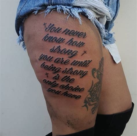 inspirational quote tattoos  girls  words