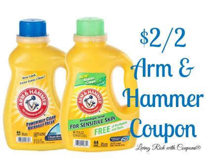 Arm and Hammer Laundry Detergent Coupons