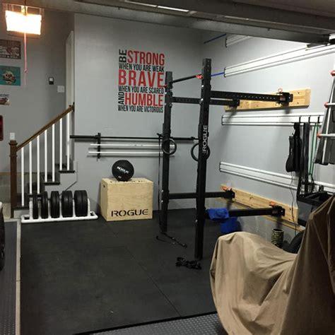 fully equipped garage gym  space   car garage gyms