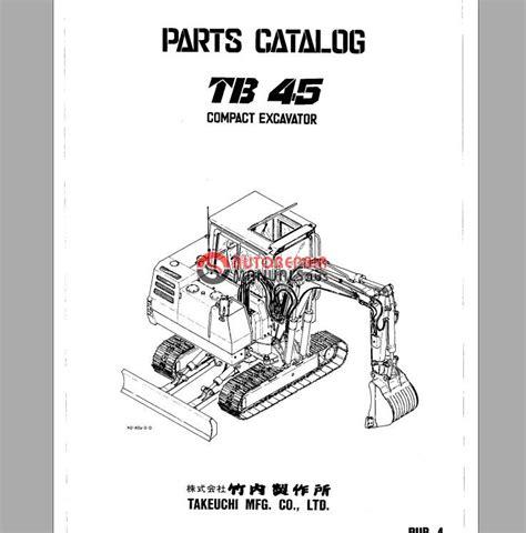 takeuchi compact excavator tb parts manual auto repair manual forum heavy equipment forums