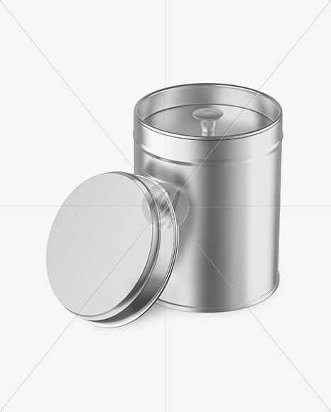 3:37 spray pai can mock created by ideaway ni exclusive branding and packaging. Opened Matte Metallic Tin Box Mockup - High-Angle Shot in ...