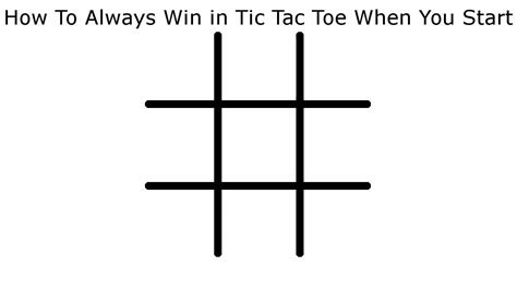 How To Never Lose in Tic Tac Toe When You Start - YouTube