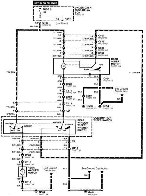 honda civic wiper wiring diagram 32 wiring diagram