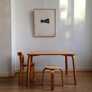 Table Et Chaise Enfant : table chaise et tabouret enfant la aalto la maison ~ Nature-et-papiers.com Idées de Décoration
