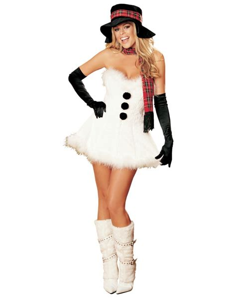 frosty  snow woman sexy snowman costume