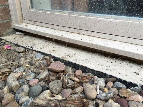 Caulking Window Sills by Best Method For Sealing Underneath Basement Window Sill