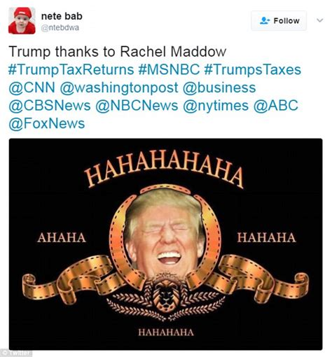 trump meme maddow tears tax liberal donald hahaha jr rachel hahahaha memes ahaha magic joke soon loyal many reveal returns