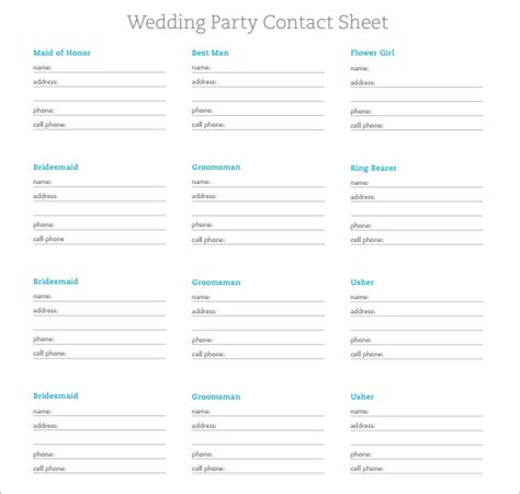 contact sheet templates   samples examples