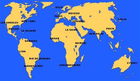 Carte Du Monde Villes Mondiales by Plans De Villes Cartes Et Plans